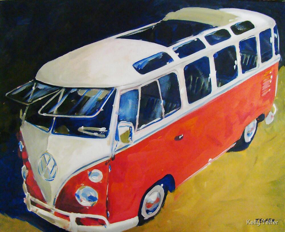 '23 Window Sunroof VW Bus' Type I Volkswagen by Kelly Telfer