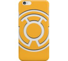 Yellow Lantern Insignia (White) iPhone Case/Skin