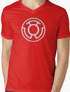 Yellow Lantern Insignia (White) Mens V-Neck T-Shirt
