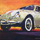 'Tan VW Bug' 1960's Volkswagen by Kelly Telfer