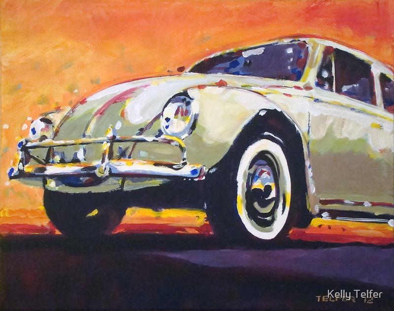 'Tan VW Bug' 1960's Volkswagen by Kelly Telfer