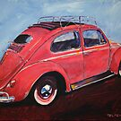 'Salmon Oval Sunroof' Oval Window Volkswagen by Kelly Telfer