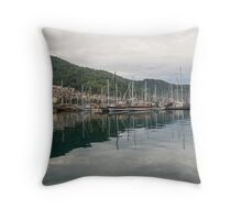 Approaching Gocek, Turkey Throw Pillow