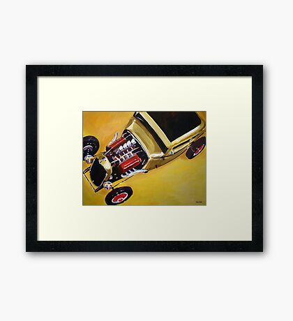 '32 Ford with Red Valve Covers' Street Rod Framed Print