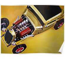 '32 Ford with Red Valve Covers' Street Rod Poster