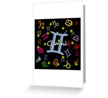 Gemini Floating Zodiac Name Greeting Card