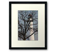 Light House through Trees Framed Print