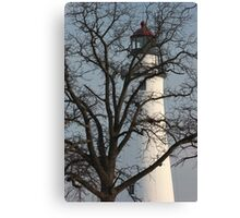 Light House through Trees Canvas Print