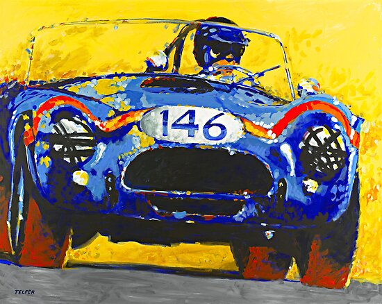 'FIA Cobra' Vintage Racing by Kelly Telfer