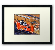 'Two McLaren's - Can-Am Champions' Vintage Racing Framed Print