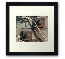 Rivets and Stick Framed Print