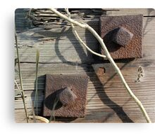 Rivets and Stick Canvas Print