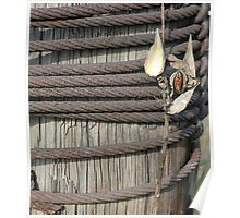 Seed Pod Iron and Wood Poster