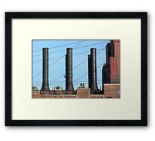 Stacks and Lines 1 Framed Print
