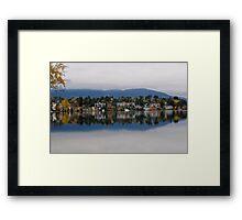 Mirror Lake (New York) Framed Print