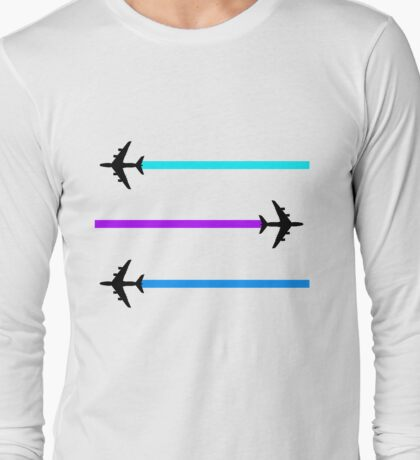 planes pattern Long Sleeve T-Shirt