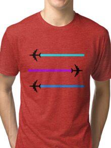 planes pattern Tri-blend T-Shirt