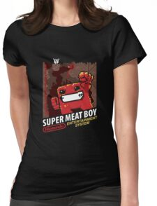 Super Meat Boy for NES Womens Fitted T-Shirt