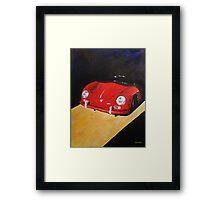 'Speedster Barn Find' 1950's Classic Porsche Framed Print