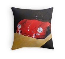 'Speedster Barn Find' 1950's Classic Porsche Throw Pillow
