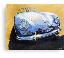 'Blue Speedster' 356 Porsche Canvas Print
