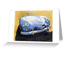 'Blue Speedster' 356 Porsche Greeting Card