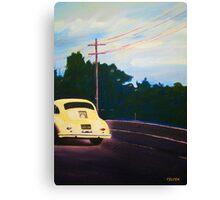 'California Dream on Hwy 1' Vintage Porsche 356 Canvas Print