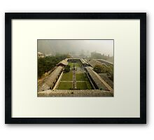 Late Morning Fog at The Great Wall Framed Print