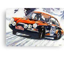 'Monte Carlo Rallye Porsche 911' Porsche Canvas Print
