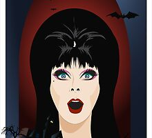 Elvira Queen of Late Night Horror TV!!! By Topher Adam by TopherAdam