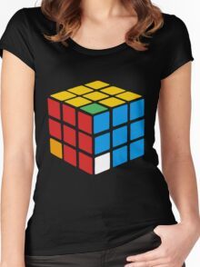 rubiks cube Women's Fitted Scoop T-Shirt