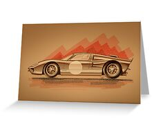 Ford GT40 - Digital Painting Greeting Card