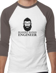 Bearded Badass Engineer Men's Baseball ¾ T-Shirt