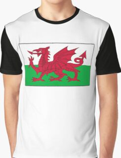 WALES, Welsh, Cymru, Welsh Flag, Pure & simple. Red Dragon of Wales Graphic T-Shirt
