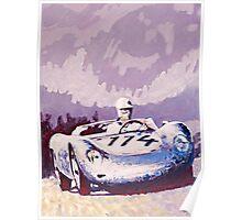 'Porsche 1957 RSK' Vintage Racing Spyder Poster