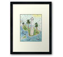 Lahaina Lighthouse HI Nautical Chart Cathy Peek Framed Print