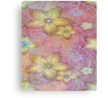 Soft textured florals Canvas Print
