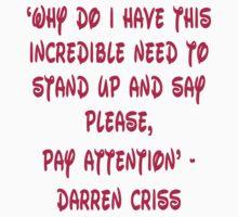 Darren Criss Human Quote Kids Clothes