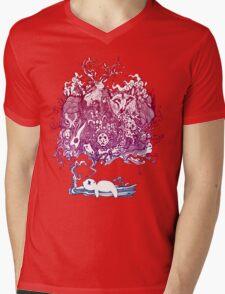 Dreaming Bear  Mens V-Neck T-Shirt
