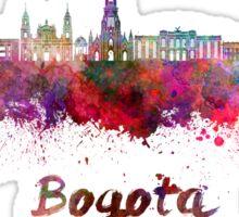 Bogota skyline in watercolor Sticker