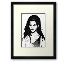 Anne Hathaway. Framed Print