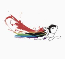 Rainbow Dash Splatter Trail by ZincSpoon
