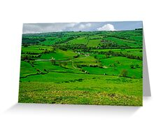South West from Thorpe Cloud Summit  Greeting Card