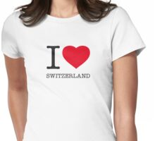 I ♥ SWITZERLAND Womens Fitted T-Shirt