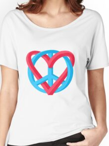 Peace + Love Women's Relaxed Fit T-Shirt