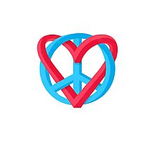Peace + Love Photographic Print