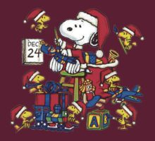 Snoopy And Christmas Helpers by gemzi-ox