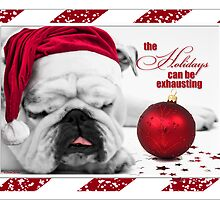 Bulldog Christmas Card by Doreen Erhardt