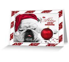 Bulldog Christmas Card Greeting Card