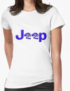 JEEP SKULLS Blue Womens Fitted T-Shirt